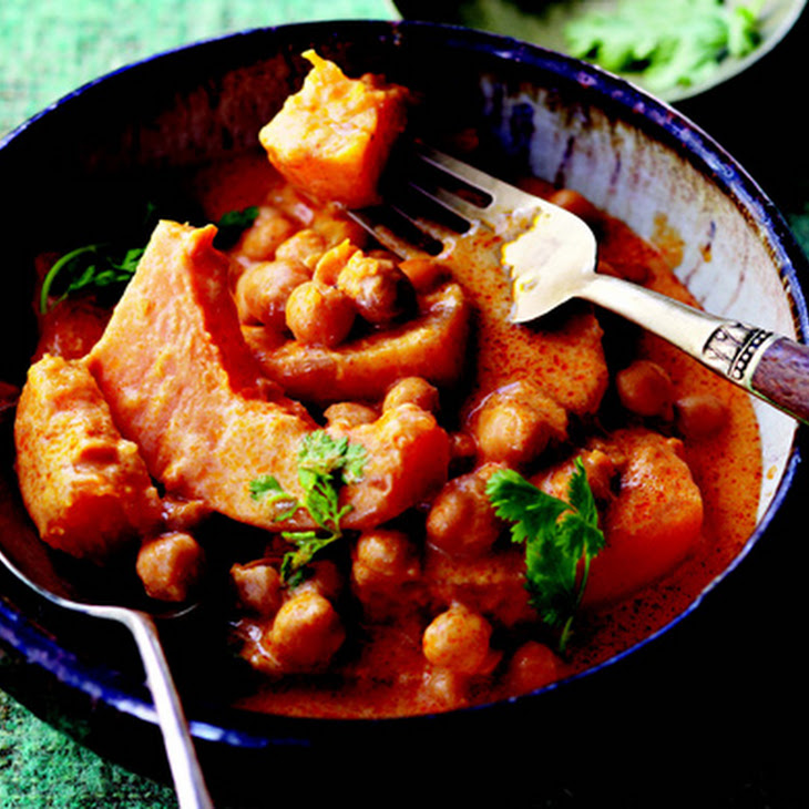 Thai Red Curry with Butternut Squash and Chickpeas Recipe