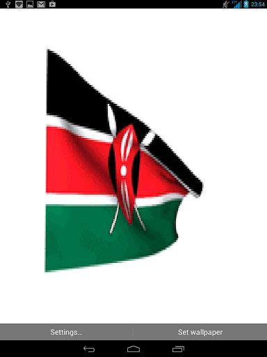 Kenya 3d flag live wallpaper