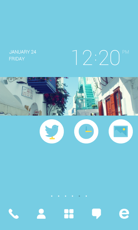 Sky Punch dodol theme - screenshot