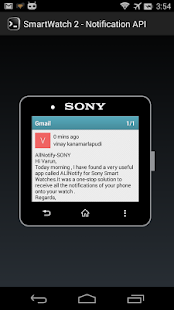 AllNotify - Sony SmartWatch