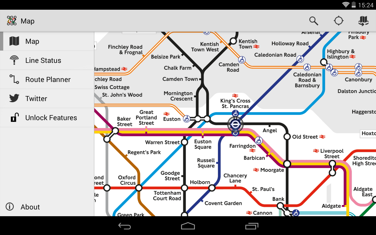 Tube Map Live Underground - screenshot