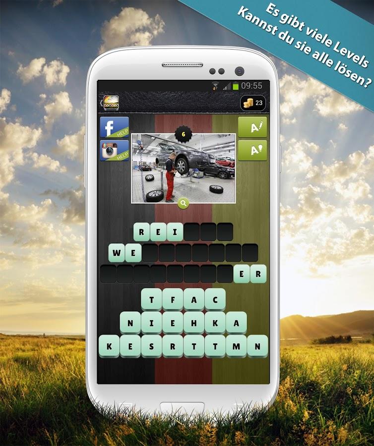 Wörter im Bild- screenshot