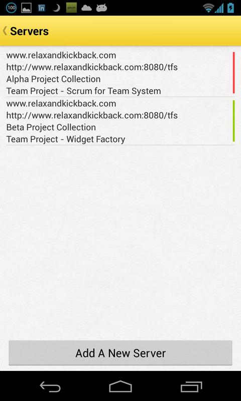 Kickback - Mobile TFS Client - screenshot
