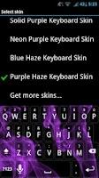 Screenshot of Purple Haze Keyboard Skin