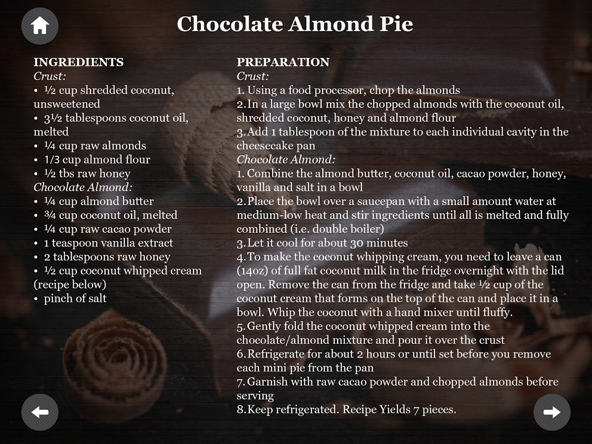Paleo Diet Chocolate recipes- screenshot