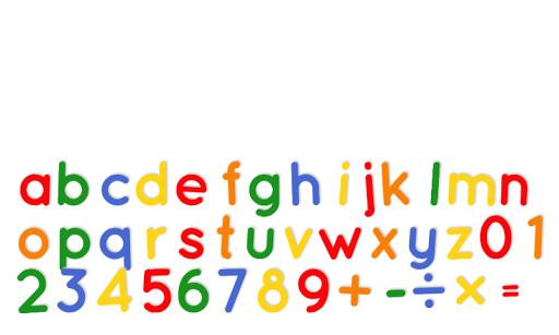 Fridge Magnet Letters+Numbers
