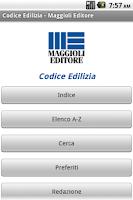 Screenshot of Codice dell'Edilizia