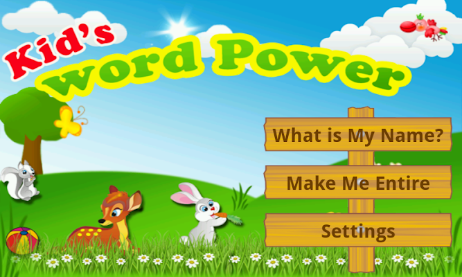 Kids Words Power - screenshot