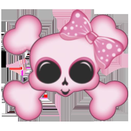 粉红色的头骨3D壁纸 漫畫 App LOGO-APP試玩