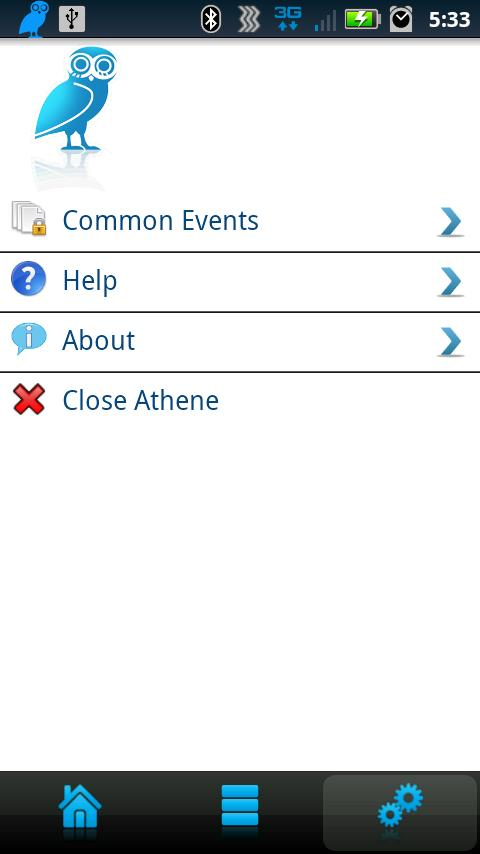 Athene Mobile Event Demo - screenshot