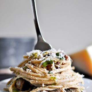 Portobello and Leek Carbonara.
