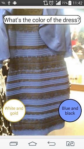 ドレスの色は何ですか?