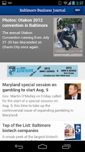Baltimore Business Journal- screenshot thumbnail