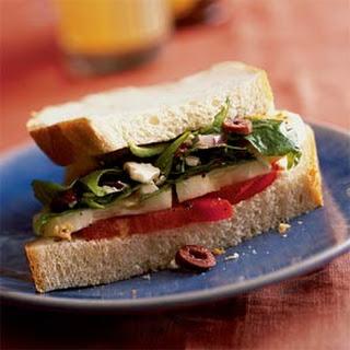 Tomato Cucumber Feta Sandwich Recipes.