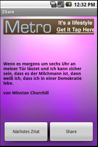 Zitate - screenshot