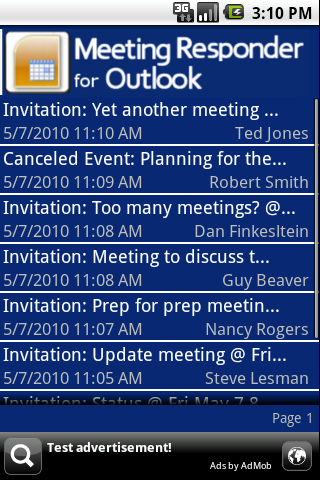 Meeting Responder for Outlook - screenshot