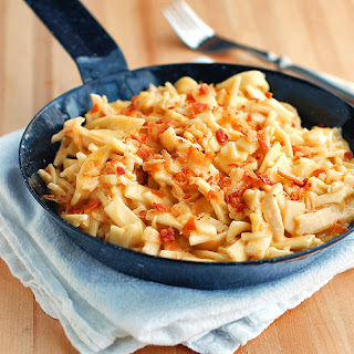 Easy Cheesy Chicken Noodles.