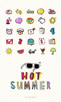 Hot Summer icon theme - screenshot