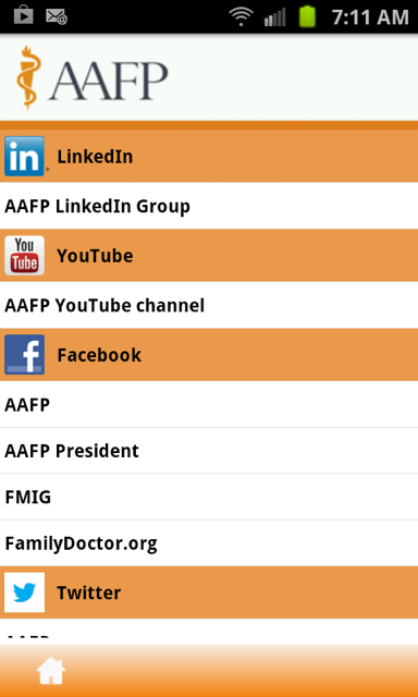 AAFP - screenshot