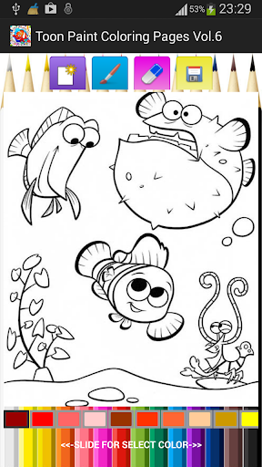 Toon Paint Coloring Pages V.6