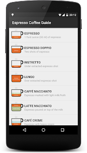 Espresso Coffee Guide: miniatura de captura de pantalla