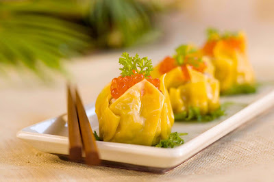 Siu Mai, a popular Chinese pork dumpling served throughout Hawaii.