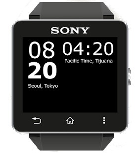 SmartWatch2 WorldClock