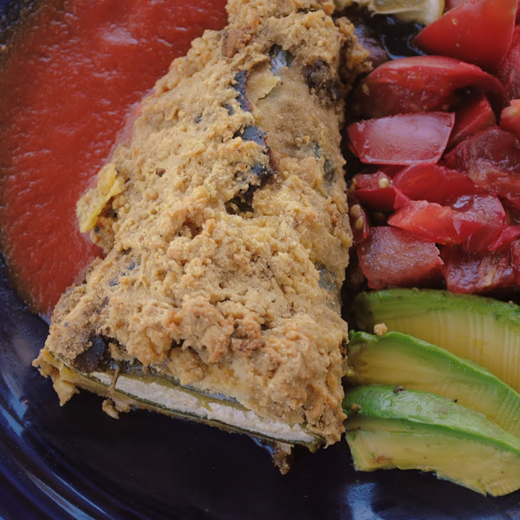 "Cashew ""Cheese"" Chile Rellenos"
