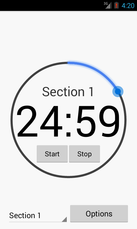 GRE Timer - screenshot
