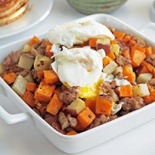 Sweet Potato & Sausage Hash (Paleo).