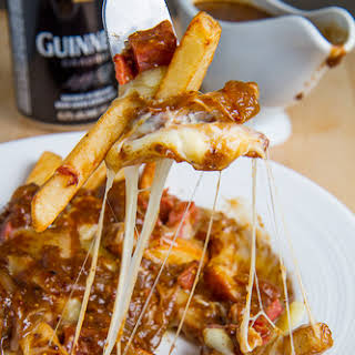Corned Beef Poutine with Guinness Gravy.