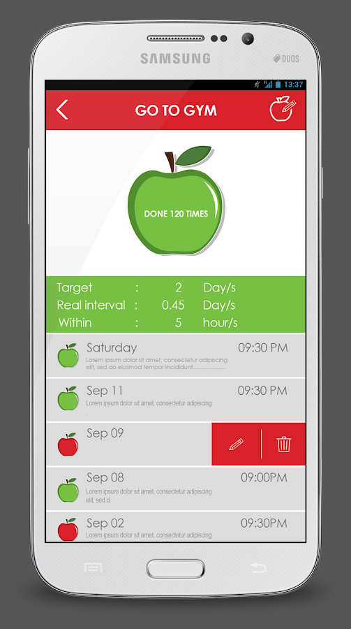 Apple A Day Productivity App- screenshot