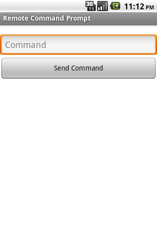 Remote Command Prompt- screenshot