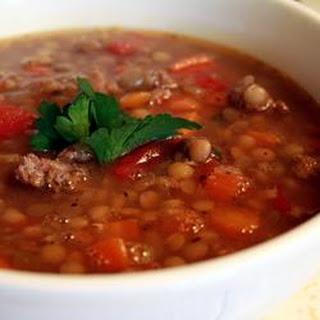 Lentil and Sausage Soup.