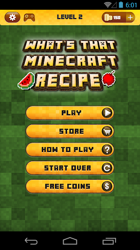 Guess The Recipe For Minecraft