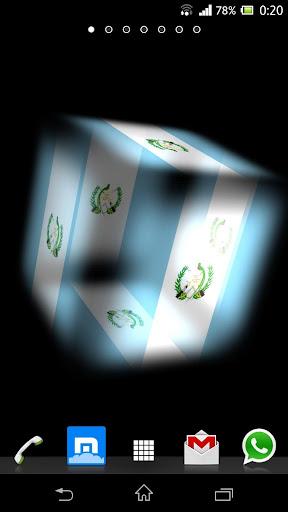 3D Guatemala Cube Flag LWP