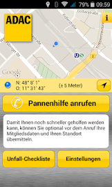 ADAC Pannenhilfe Screenshot 1