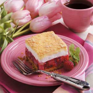 Rhubarb Icebox Dessert.