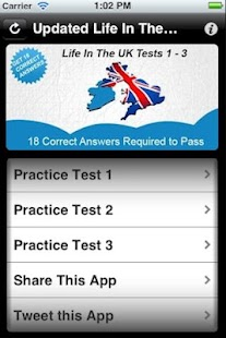 Updated Life In The UK Test 1- screenshot thumbnail