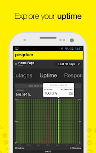 Pingdom - screenshot thumbnail