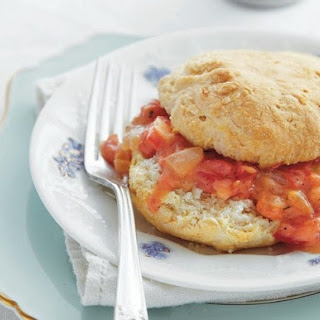 Cat-Head Biscuits with Tomato Gravy from 'Around the Southern Table'.