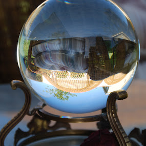 Crystal Ball by Nancy Lowrie - Artistic Objects Other Objects ( ball, glass, patio, object, crystal )