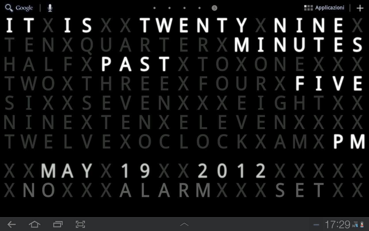 Text Clock Live Wallpaper - screenshot