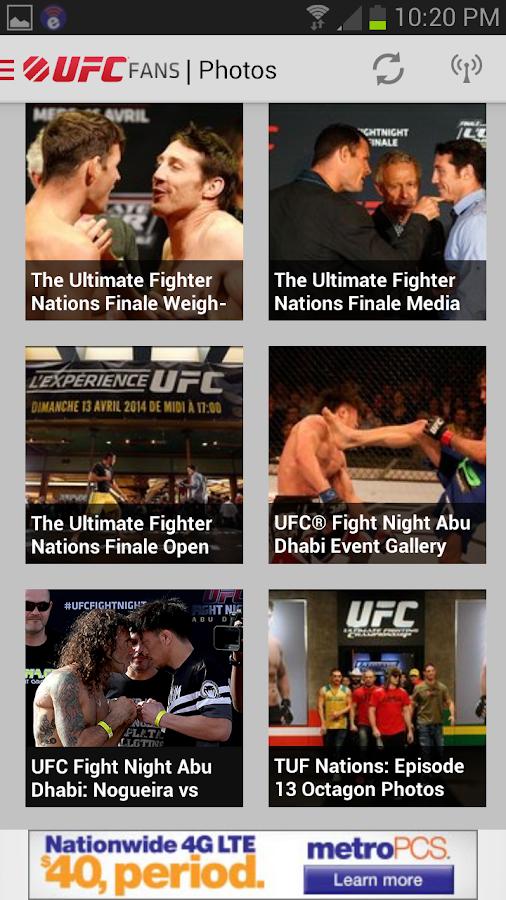 UFC Fans powered by MetroPCS - screenshot