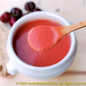 Gazpacho with Cherries