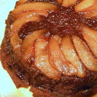 Gingerbread Pear Upside Down Skillet Cake.