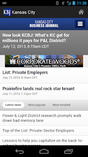 Kansas City Business Journal- screenshot thumbnail