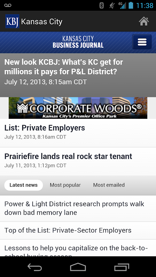 Kansas City Business Journal- screenshot