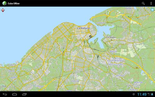 Offline Map Cuba