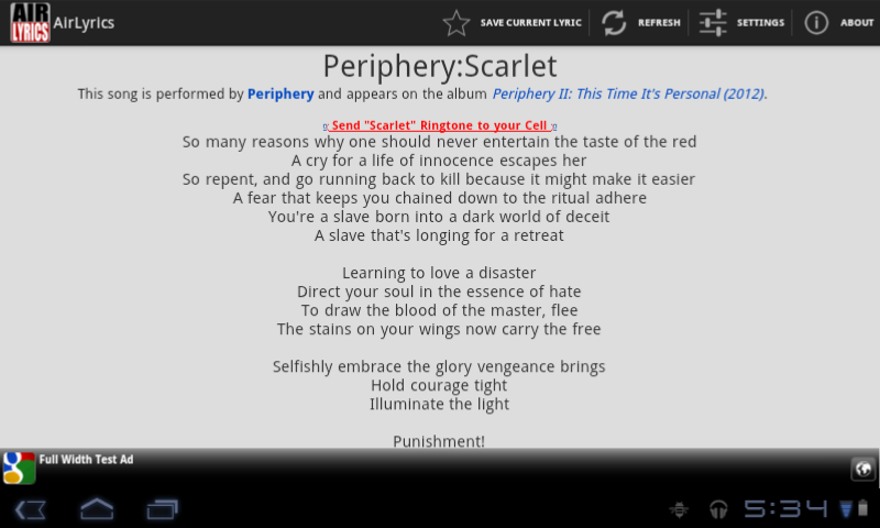 AirLyrics - screenshot